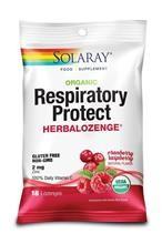 Dropsuri pentru Gat Respiratory Protect cu Gust de Merisoare si Zmeura 18dr.Solaray Secom Cod: seco.00463