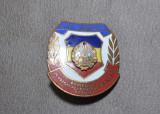 Insigna - Evidentiat In Pregatirea Pentru Apararea Patriei, Insigna RSR #26, Romania de la 1950