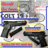 Replica pistol COLT 1911 arc METAL slide -calibru 6mm airsoft