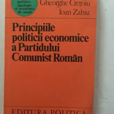 ECONOMIE POLITICA. PRINCIPIILE ECONOMICE ALE PARTIDULUI COMUNIST ROMAN