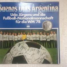 udo jurgens fussball nationalmannschaft buenos dias argentina CM 1978 disc vinyl
