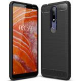 Husa NOKIA 3.1 Plus (2018) - Luxury Carbon TSS, Negru