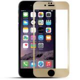 Folie sticlă securizată full screen Iphone 7 Plus/Iphone 8 Plus Gold, Sticla, Universal