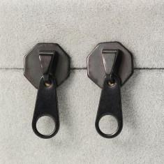 Cercei baieti fete Punk Zipper - set 2 buc