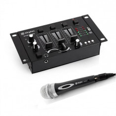 Electronic-Star Mini DJ set, 1 x mixer cu 3/2 canale + 1 x microfon de mână