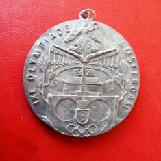 Placheta    comemorativa   olimpica    Amsterdam  1928