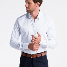 Camasa premium, elegant, barbati - K496-alb