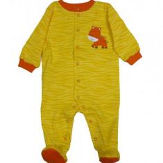 Salopeta / Pijama bebe cu imprimeu Z59, 1-2 ani, 1-3 luni, 3-6 luni, 6-9 luni, 9-12 luni, Galben