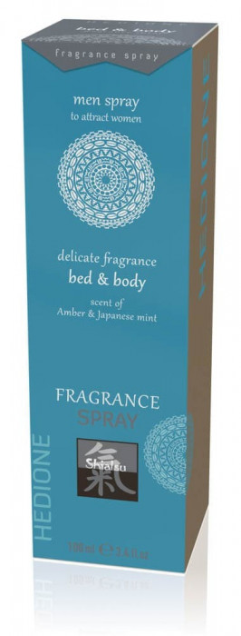 Spray Afrodisiac Bed & Body Pentru Femei, Ambra & Menta Japoneza, 100 ml