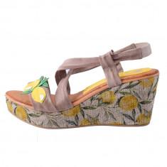 Sandale dama, din piele naturala, marca Marila, 184MA-B2-36, taupe , marime: 37