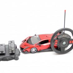 Masina cu telecomanda tip volan si pedale, 35 cm, rosu
