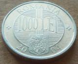 Moneda 1000 Lei - ROMÂNIA, anul 2004   *cod 5128   ALLU, Aluminiu