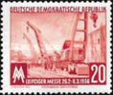 GERMANIA DDR 1956 SERIE  NESTAMPILATA. 2 VALORI