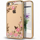Husa iPhone 6 si 6S - Luxury Flowers Gold