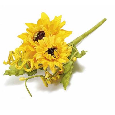 Buchet floarea soarelui 10 cm foto