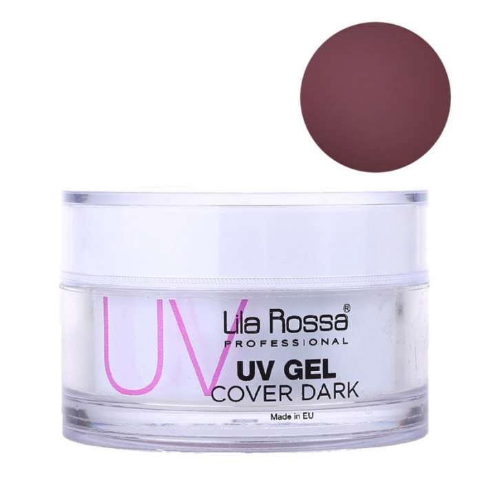 Gel UV pentru unghii Cover Dark Lila Rossa, 50 g