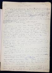 """Manuscris Horia Lovinescu, """"Meandre"""" foto"""