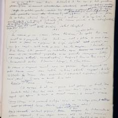 """Manuscris Horia Lovinescu, """"Meandre"""""""