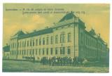 2737 - CARANSEBES, Timis, High School, Romania - old postcard - unused, Necirculata, Printata