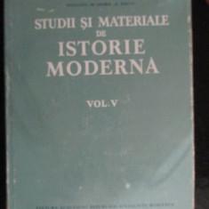 Studii si materiale de istorie moderna vol.5