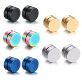 Cercei barbell magnetici multicolor,nu necesita gaurirea urechii 8 mm