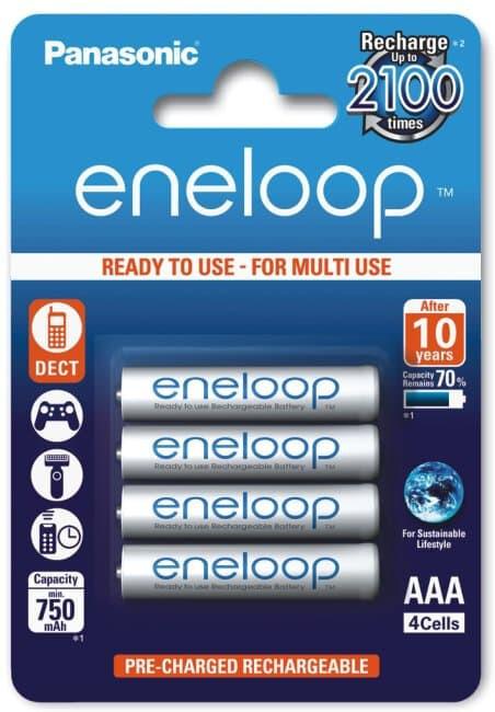 Acumulatori Panasonic Eneloop AAA R3 750mAh 4 Bucati / Set