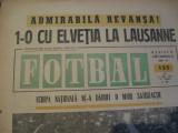 Revista Fotbal nr.155/15 mai 1969-Elvetia-Romania 0-1