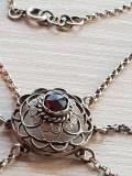 Colier vechi - rubin -argint 800 filigranat   lantisor - Gemania- Viena