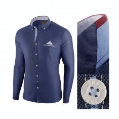 Camasa pentru barbati, bleumarin, slim fit - Leon Classic, 3XL, L, M, S, XL, XXL