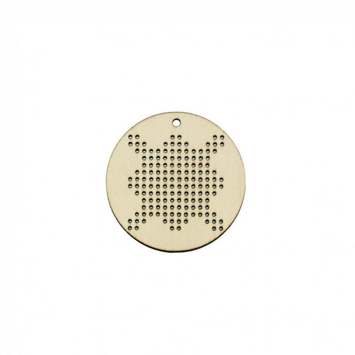 Figurina Tip Gherghef - Cerc 5cm - Model Traditional - gaurele 1mm