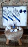 Trusou botez baietei cu albastru - Cu drag din partea nasilor (Marime...
