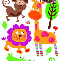 Room Decor Sticker de perete animale din safari 35x21cm