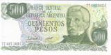 Bancnota Argentina 500 Pesos (1977-82) - P303b UNC