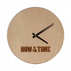 Ceas de Perete din Lemn - Now Is The Time