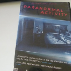 paranormal activity -dvd