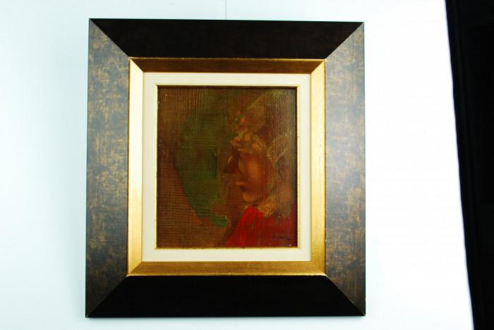 Tablou pictura - Traian Mocanu - Portret (pictor Iasi)