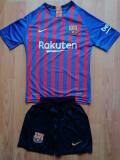 Echipament Barcelona copii 12-13 ani marimea 164 si 176, YXL, YXXL, Tricou + Pantalon