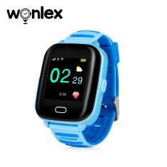 Ceas Smartwatch Pentru Copii Wonlex KT02 cu Functie Telefon, GPS, 3G, Camera, IP67, Android - Albastru