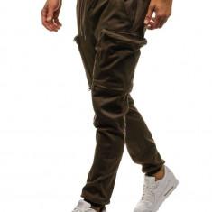 Pantaloni joggers cargo pentru bărbat maro Bolf 0475