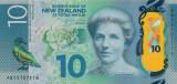 Bancnota Noua Zeelanda 10 Dolari 2015 - P192 UNC ( polimer )