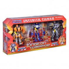 Set 3 roboti Infinite Power, 17 cm, Multicolor