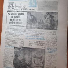 ziarul paralela 45 anul 1,nr.1 din 11 aprilie 1990-prima aparitie