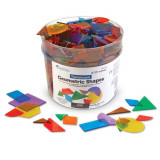 Forme geometrice transparente 408 piese, Learning Resources