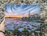 Pictura pe panza, Peisaje, Acrilic, Realism