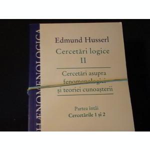 CERCETARI LOGICE-EDMUND HUSSERL-3 VOL-VOL2/1-2/2-2/3-