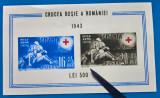 Cumpara ieftin ROMANIA -1943-LP 152-''Crucea Rosie ''-colita-cu eroare-imag deplasata-MNH