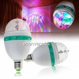 Bec Rotativ cu 3 LEDuri 1W Multicolore Efect Disco