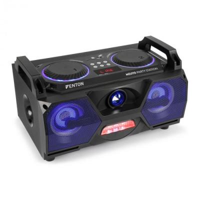 "Fenton MDJ115, media player, usb, sd, bluetooth, aux-in, amplificator 120 W, woofer de 5,5 "", RGB led foto"