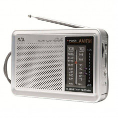 Radio portabil Sal AM/FM Gri