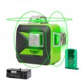 Nivela laser verde Huepar 603CG 3D nivelare 40 m cu, bază de pivotare magnetică